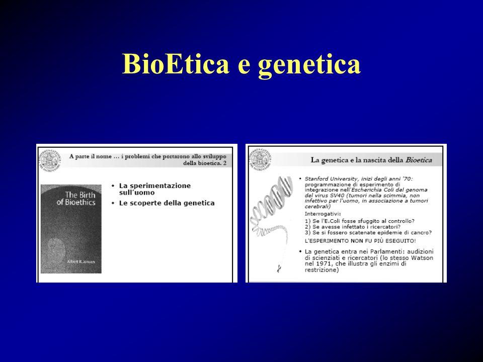 CNB, La clonazione, 1997 Violazione dell'identità individuale Doveri di rispetto verso i viventi: animali ed esseri umani Si è proposto di proibire la manipolazione dell'embrione umano, la clonazione e la creazione di ibridi chimerici (scissione embrionale precoce, clonazione e ectogenesi a fini procreativi)