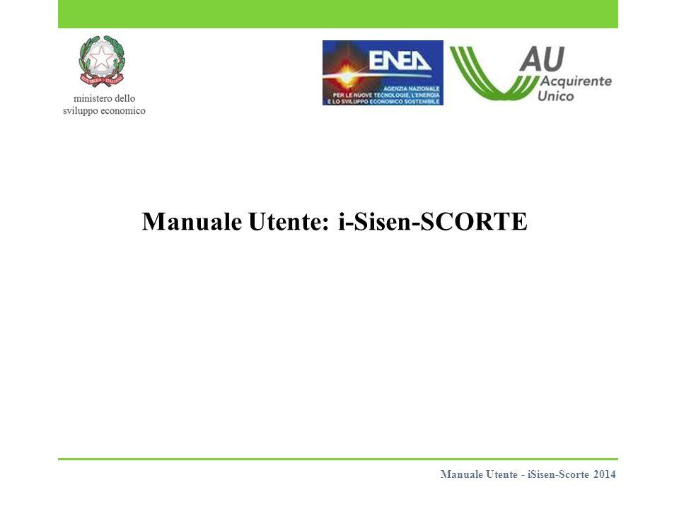 Manuale Utente: i-Sisen-SCORTE Manuale Utente - iSisen-Scorte 2014