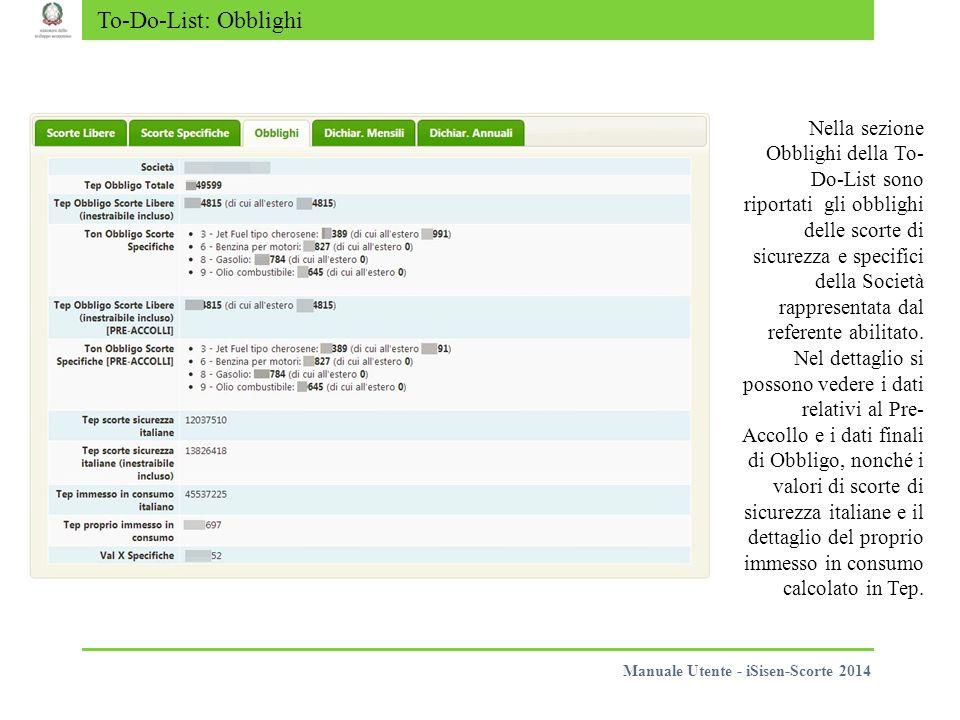 Scorte Specifiche Per le comunicazioni relative alle scorte specifiche valgono gli stessi principi e modi operativi analoghi alle scorte libere descritti nelle slide precedenti.