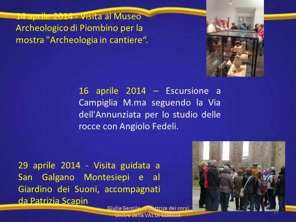 14 aprile 2014 - Visita al Museo Archeologico di Piombino per la mostra