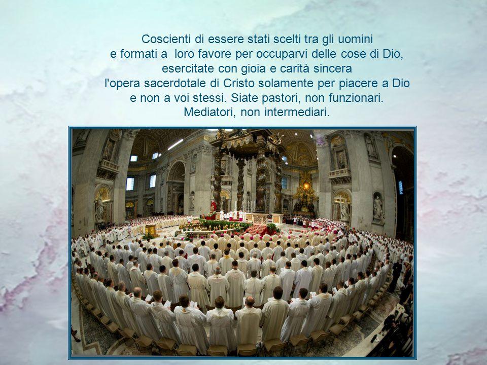 Che il Signore dia a tutti, vescovi e preti, la grazia di trovare sempre o di ricordarsi del nostro primo amore, di essere dei pastori, di non avere vergogna di finire umiliati su un letto o di perdere la testa.