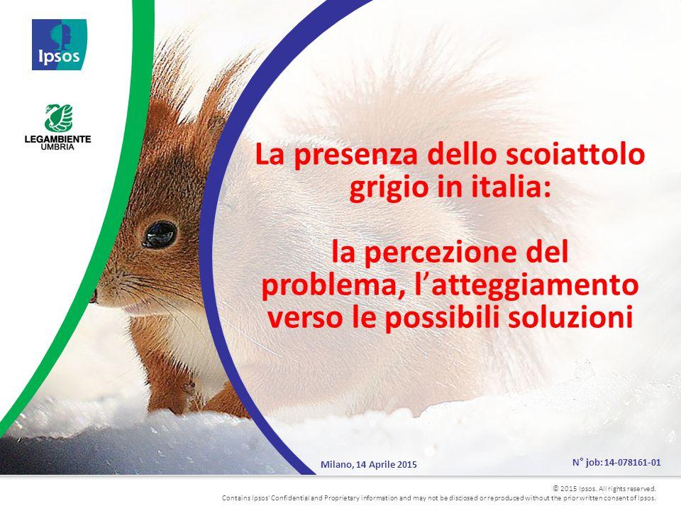 32 Le soluzioni meno invasive sono quelle che raccolgono percentuali più alte Base: Totale intervistati campione Nazionale (1016) – totale intervistati campione regione Umbria (501) VALORI % % D'accordo (VOTI 4-5) D15bis) Per contenere la popolazione degli scoiattoli grigi si sono studiate alcune soluzioni.