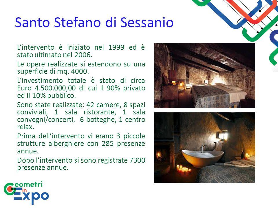 Santo Stefano di Sessanio L'intervento è iniziato nel 1999 ed è stato ultimato nel 2006. Le opere realizzate si estendono su una superficie di mq. 400