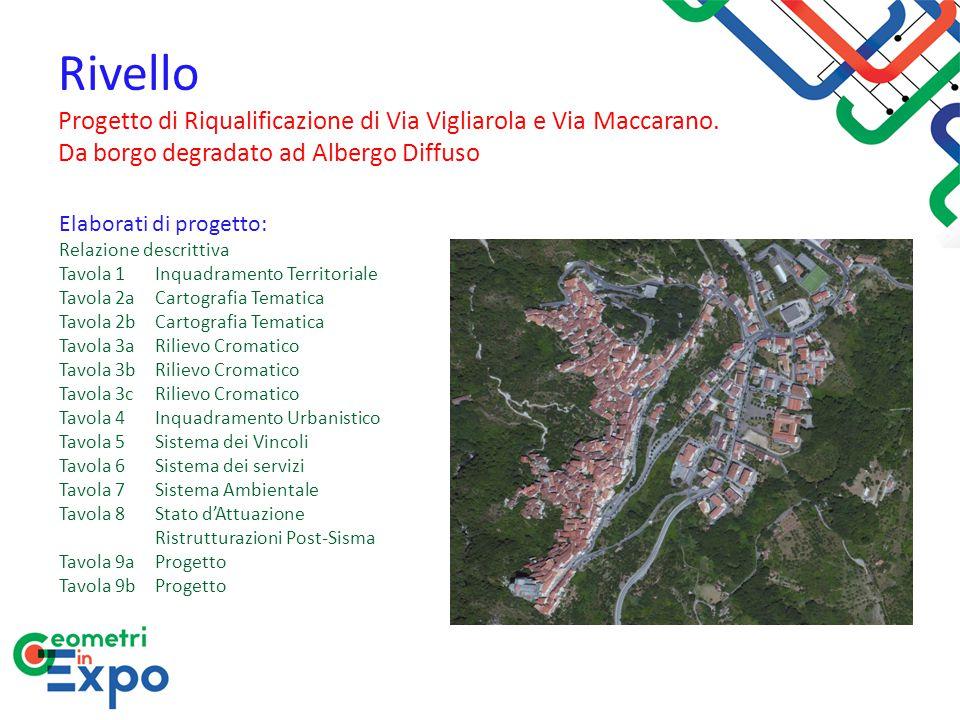 Elaborati di progetto: Relazione descrittiva Tavola 1 Inquadramento Territoriale Tavola 2a Cartografia Tematica Tavola 2b Cartografia Tematica Tavola