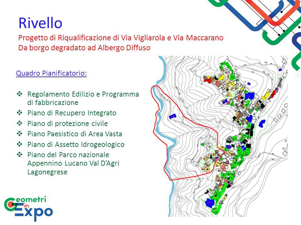 Rivello Progetto di Riqualificazione di Via Vigliarola e Via Maccarano Da borgo degradato ad Albergo Diffuso Quadro Pianificatorio:  Regolamento Edil