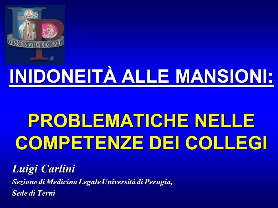 GIUDIZIO DI IDONEITÀ ALLE MANSIONI PER PERSONALE A.T.A.