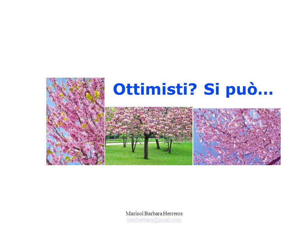 Marisol Barbara Herreros herrbarbara@gmail.com herrbarbara@gmail.com Ottimisti? Si può…
