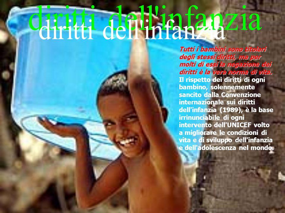 Tutti i bambini sono titolari degli stessi diritti, ma per molti di essi la negazione dei diritti è la vera norma di vita.
