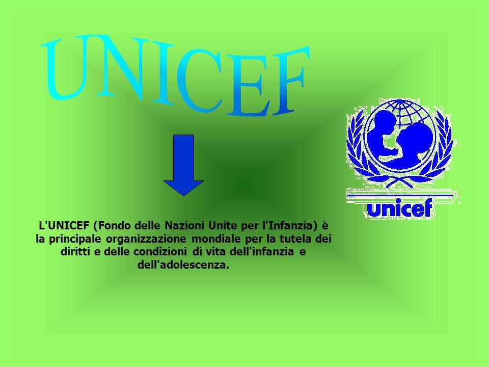 L UNICEF (Fondo delle Nazioni Unite per l Infanzia) è la principale organizzazione mondiale per la tutela dei diritti e delle condizioni di vita dell infanzia e dell adolescenza.