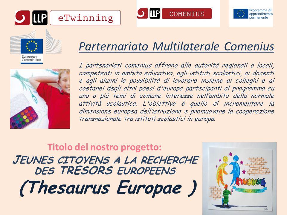 Parternariato Multilaterale Comenius I partenariati comenius offrono alle autorità regionali o locali, competenti in ambito educativo, agli istituti s