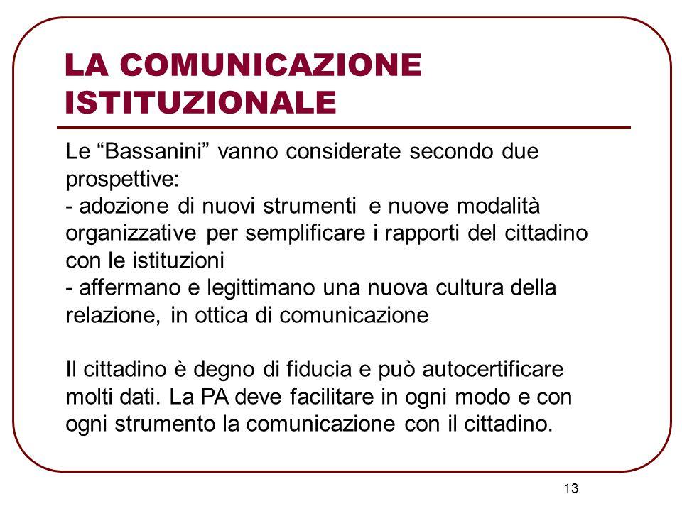 14 La Commissione Affari Costituzionali della Camera LA LEGGE N°150 DEL 2000 Disciplina delle attività di informazione e di Comunicazione delle Pubbliche Amministrazioni LA COMUNICAZIONE ISTITUZIONALE