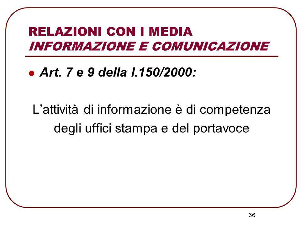 37 Informazione giornalistica: È la principale fonte di conoscenza per i cittadini sull'attività delle istituzioni C'è comunicazione AUTOPRODOTTA dalle istituzioni orientata ai media i quali poi la amplificano passandola agli utenti