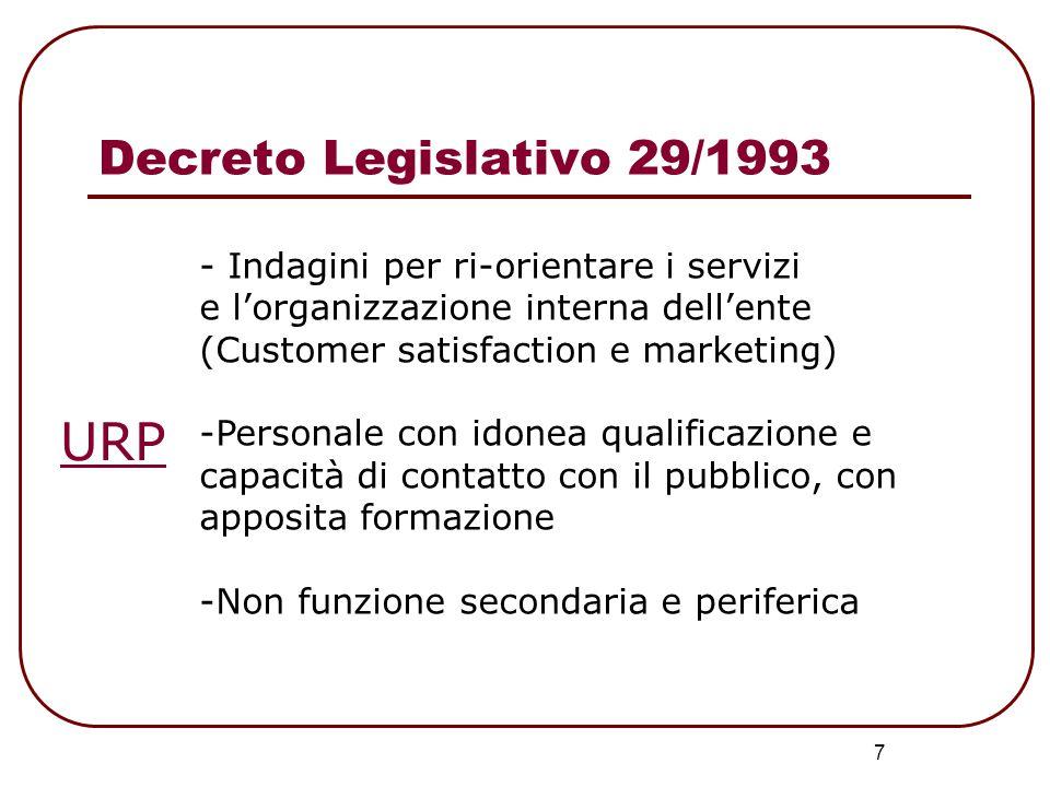 8 DIRETTIVA del 27 gennaio 1994 del PRESIDENTE del CONSIGLIO dei MINISTRI: Stabilisce le caratteristiche dei servizi offerti da ogni struttura.