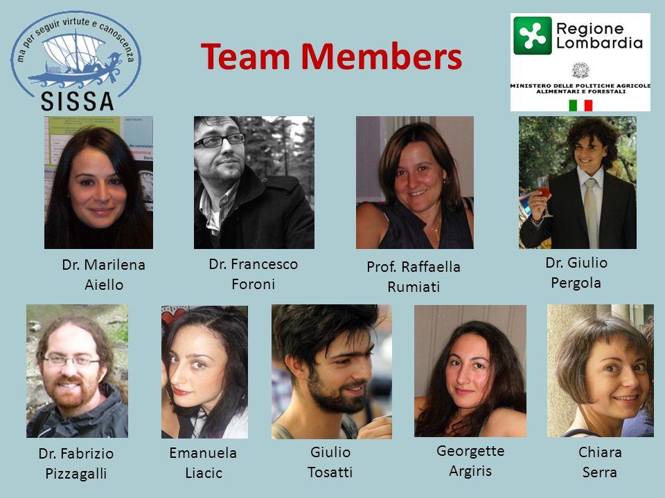 Team Members Dr. Giulio Pergola Prof. Raffaella Rumiati Dr. Francesco Foroni Emanuela Liacic Georgette Argiris Chiara Serra Dr. Marilena Aiello Dr. Fa