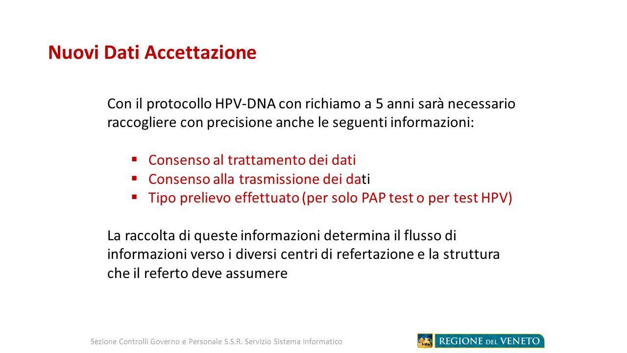 Nuovi Dati Accettazione Sezione Controlli Governo e Personale S.S.R.