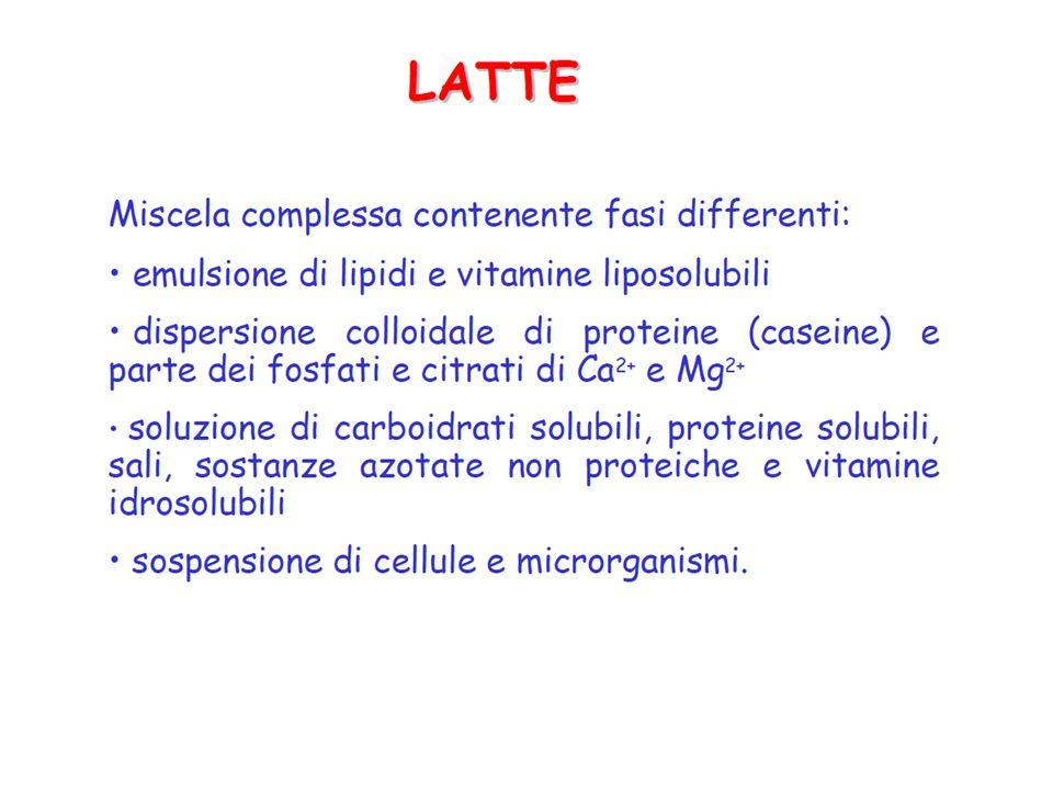 Composizione dei diversi tipi di latte materno e vaccino Tipo di latteProteine (g)Lipidi (g)Zuccheri (g)Sodio (meq) Colostro2.72.05.02.1 Latte di transizione 1.62.86.50.6 Latte maturo1.13.27.00.7 Latte vaccino3.23.74.82.2 Dati espressi per 100 grammi di latte