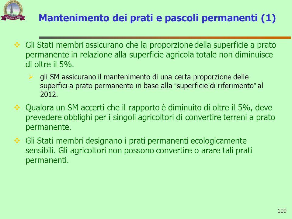 Mantenimento dei prati e pascoli permanenti (1)  Gli Stati membri assicurano che la proporzione della superficie a prato permanente in relazione alla