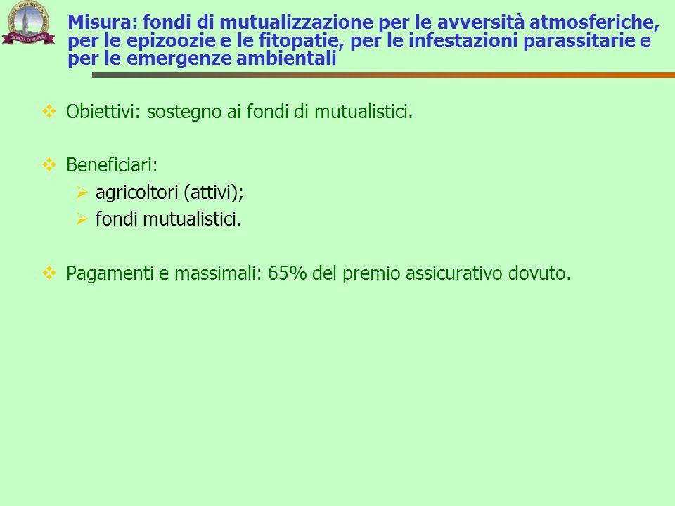 Misura: fondi di mutualizzazione per le avversità atmosferiche, per le epizoozie e le fitopatie, per le infestazioni parassitarie e per le emergenze a