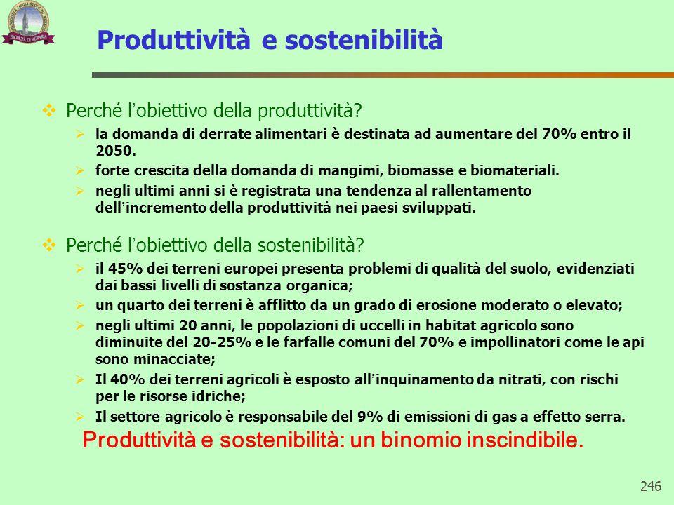 Produttività e sostenibilità  Perché l'obiettivo della produttività?  la domanda di derrate alimentari è destinata ad aumentare del 70% entro il 205
