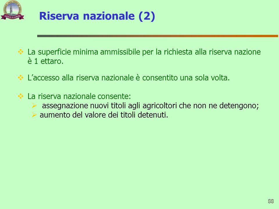 Riserva nazionale (2)  La superficie minima ammissibile per la richiesta alla riserva nazione è 1 ettaro.  L'accesso alla riserva nazionale è consen