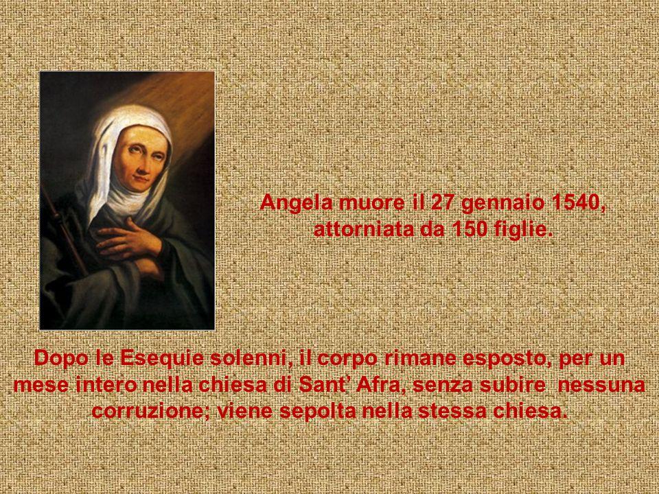 Essendo stata giudicata degna e ispirata, la Regola viene approvata l'8 agosto 1536 da Lorenzo Muzio, Vicario Generale dell'Ordinario diocesano, Card.