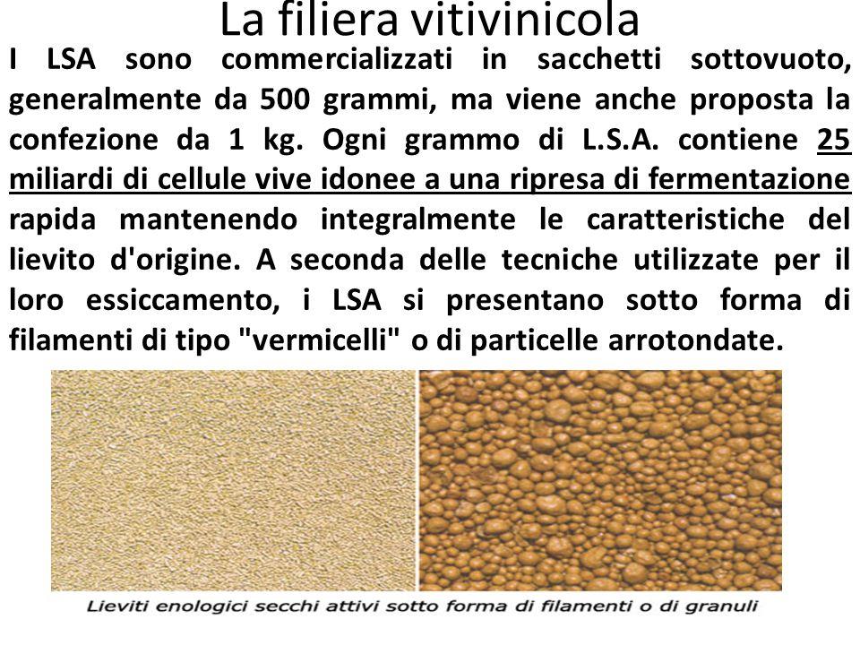 La filiera vitivinicola I LSA sono commercializzati in sacchetti sottovuoto, generalmente da 500 grammi, ma viene anche proposta la confezione da 1 kg