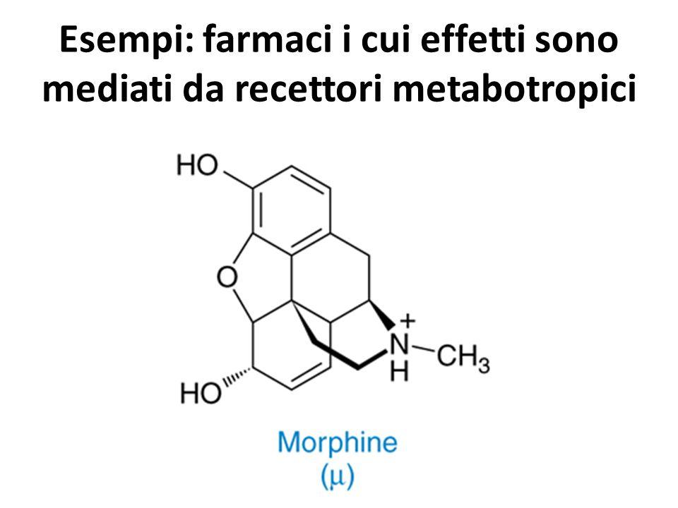 Esempi: farmaci i cui effetti sono mediati da recettori metabotropici
