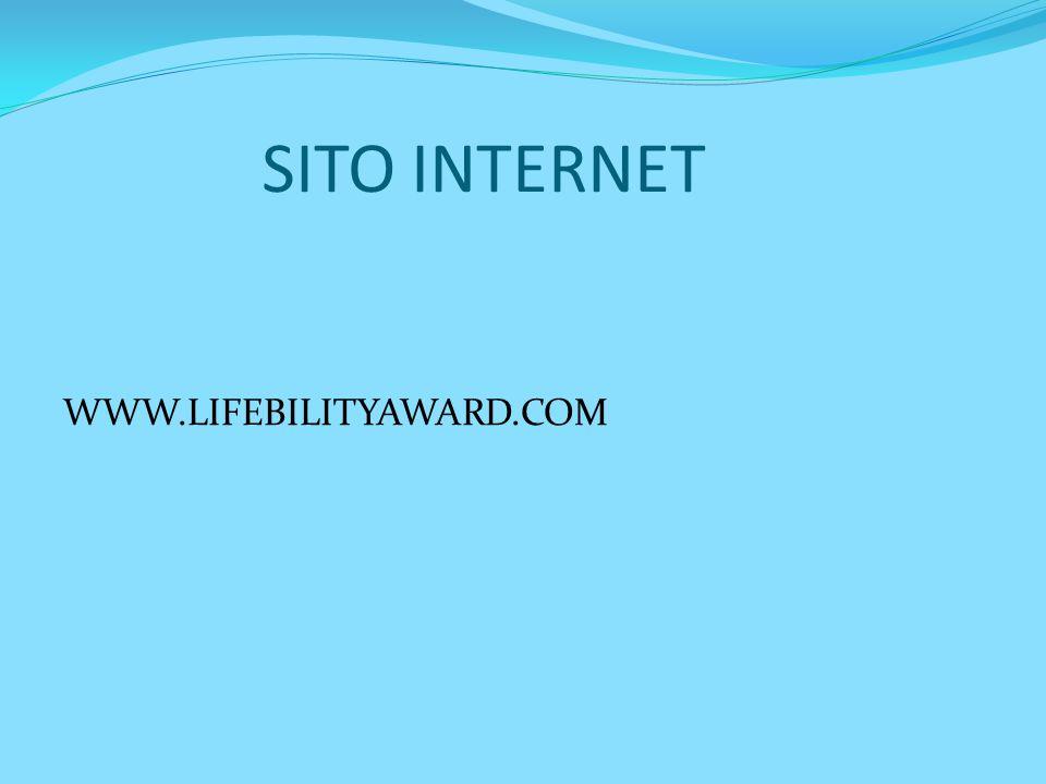 SITO INTERNET WWW.LIFEBILITYAWARD.COM