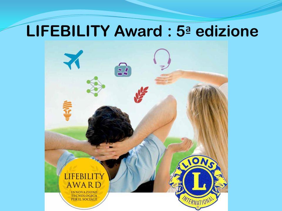 LIFEBILITY Award : 5 ª edizione