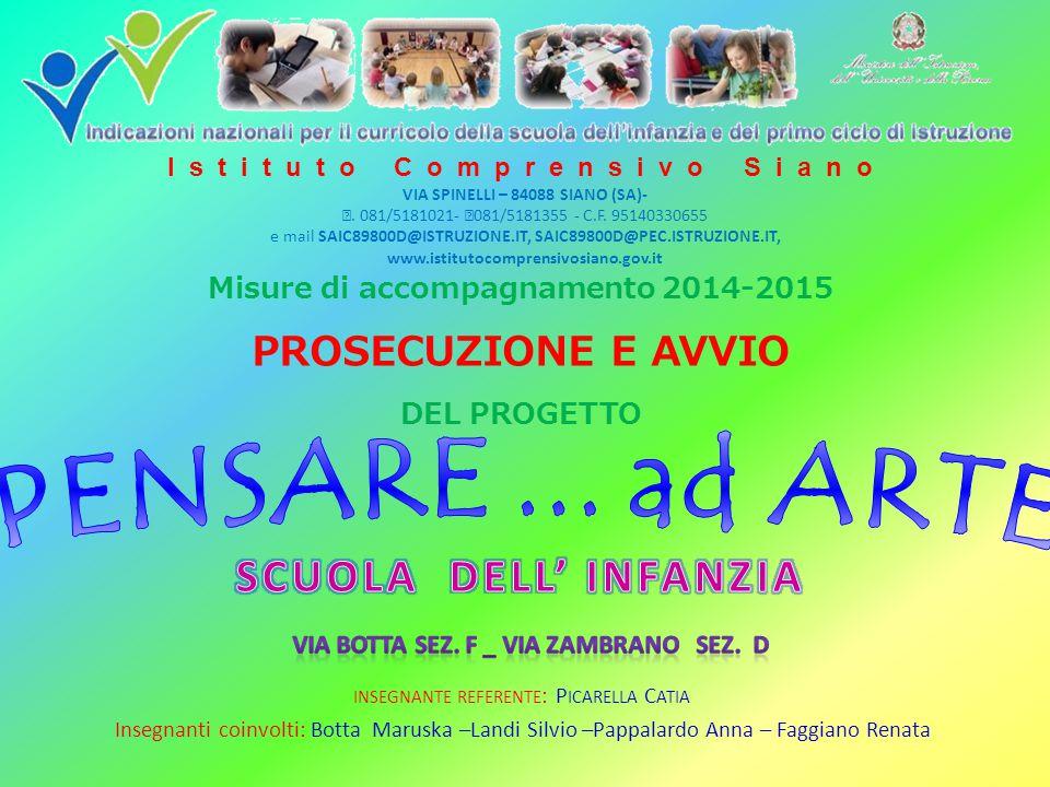 PERCORSO DI FORMAZIONE Pitagora's Theme TATTICHE E DIDATTICHE PER UNA SCUOLA DA FAVOLA SCUOLA DELL'INFANZIA A.S.2014/15