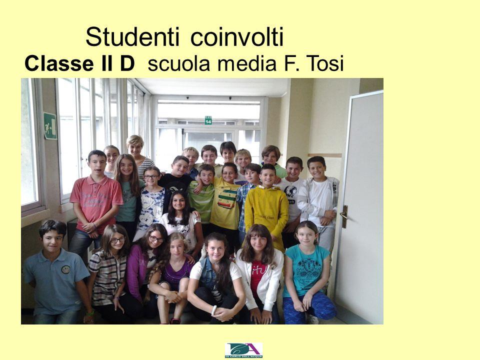 Studenti coinvolti Classe II D scuola media F. Tosi