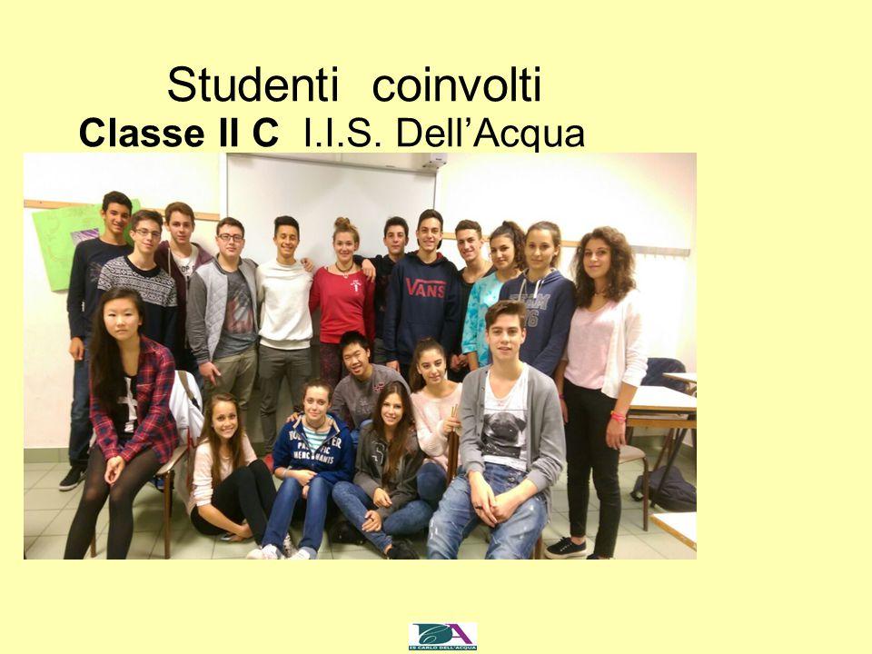 Studenti coinvolti Classe II C I.I.S. Dell'Acqua