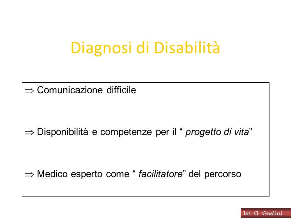 """Diagnosi di Disabilità  Comunicazione difficile  Disponibilità e competenze per il """" progetto di vita""""  Medico esperto come """" facilitatore"""" del per"""