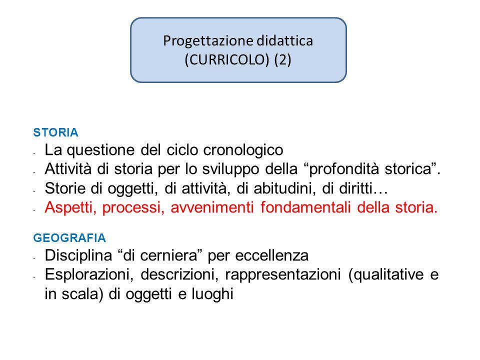 """Progettazione didattica (CURRICOLO) (2) STORIA - La questione del ciclo cronologico - Attività di storia per lo sviluppo della """"profondità storica"""". -"""