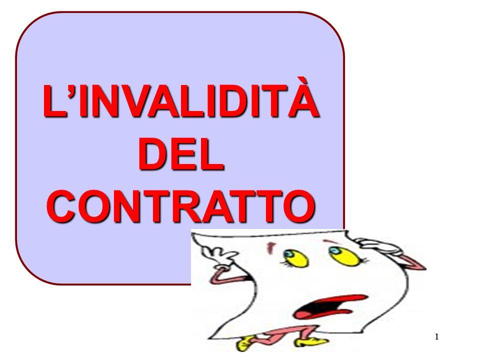 11 L'INVALIDITÀ DEL CONTRATTO