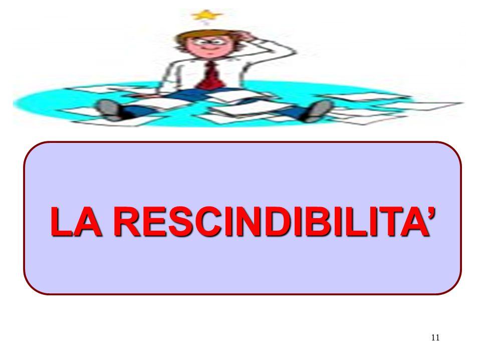 11 LA RESCINDIBILITA'
