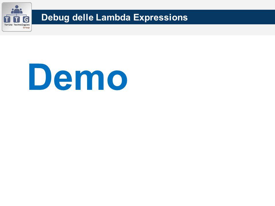 Debug delle Lambda Expressions Demo