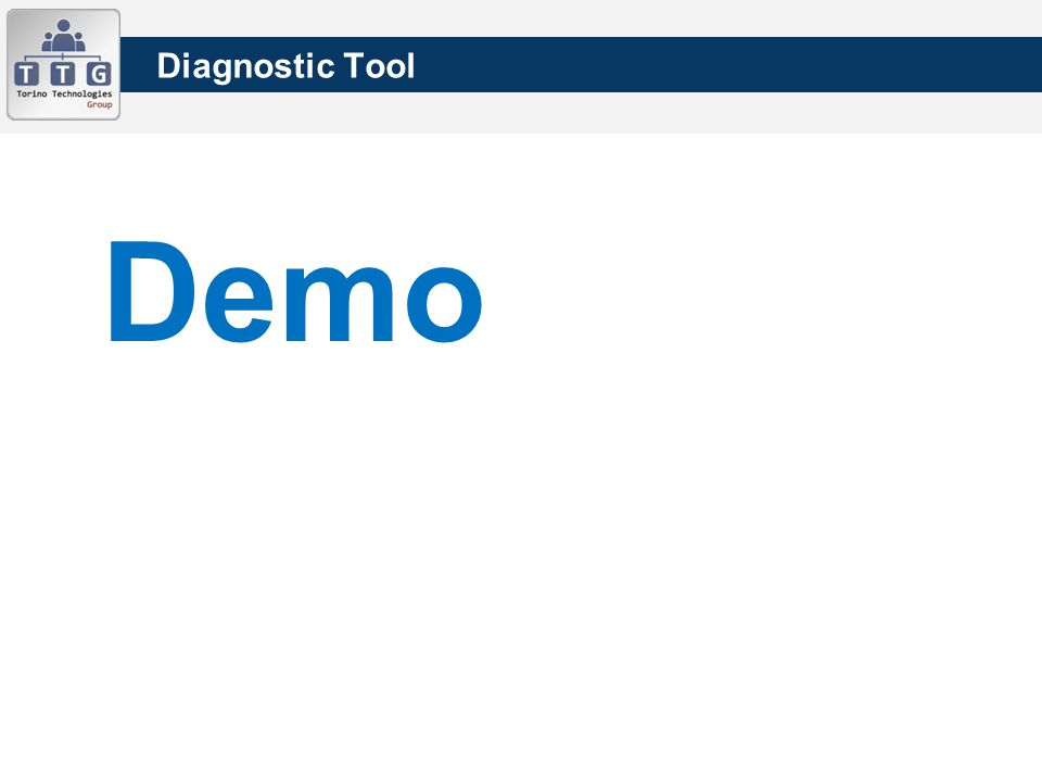 Diagnostic Tool Demo