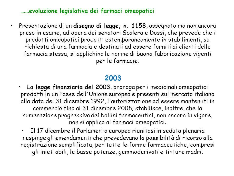 Presentazione di un disegno di legge, n. 1158, assegnato ma non ancora preso in esame, ad opera dei senatori Scalera e Dossi, che prevede che i prodot
