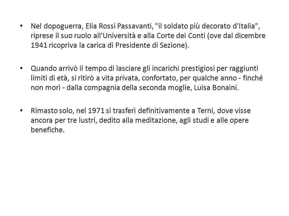 Nel dopoguerra, Elia Rossi Passavanti,