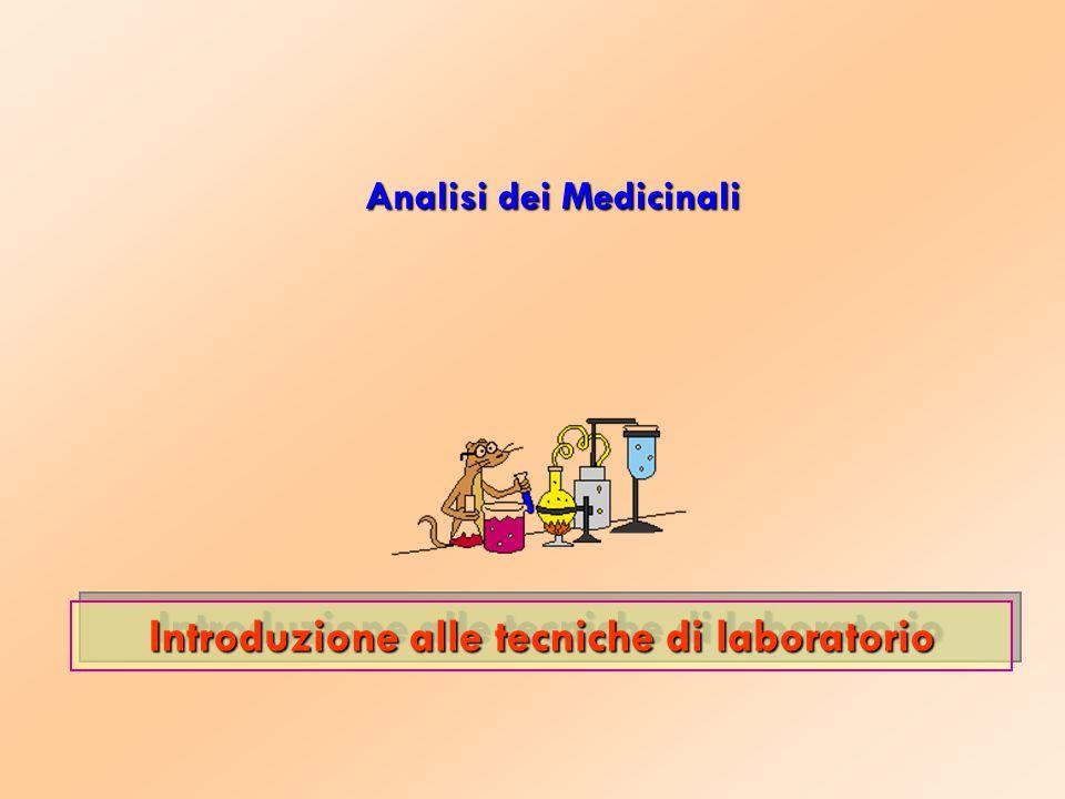 Analisi dei Medicinali Introduzione alle tecniche di laboratorio