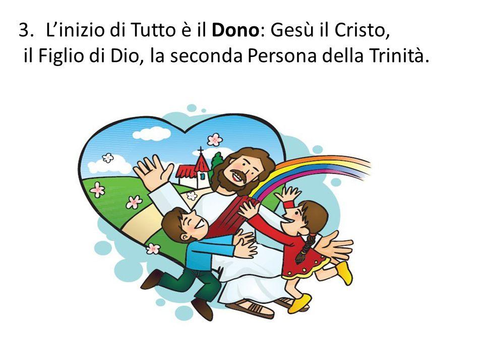 3.L'inizio di Tutto è il Dono: Gesù il Cristo, il Figlio di Dio, la seconda Persona della Trinità.