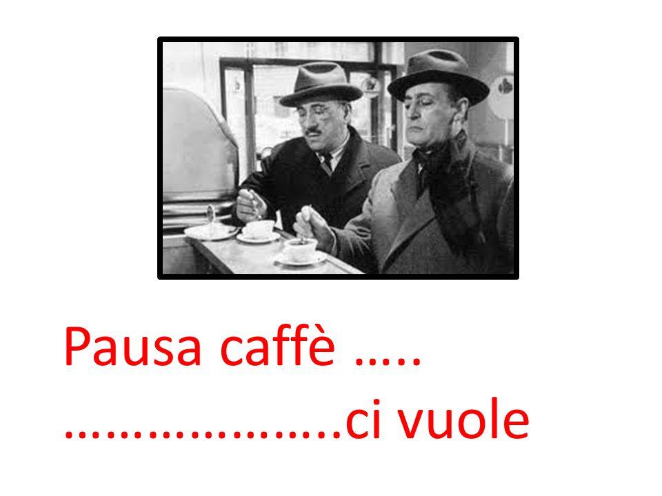 Pausa caffè ….. ………………..ci vuole