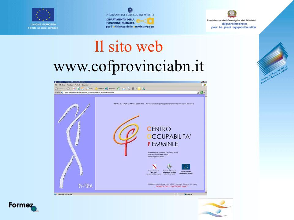 Il sito web www.cofprovinciabn.it