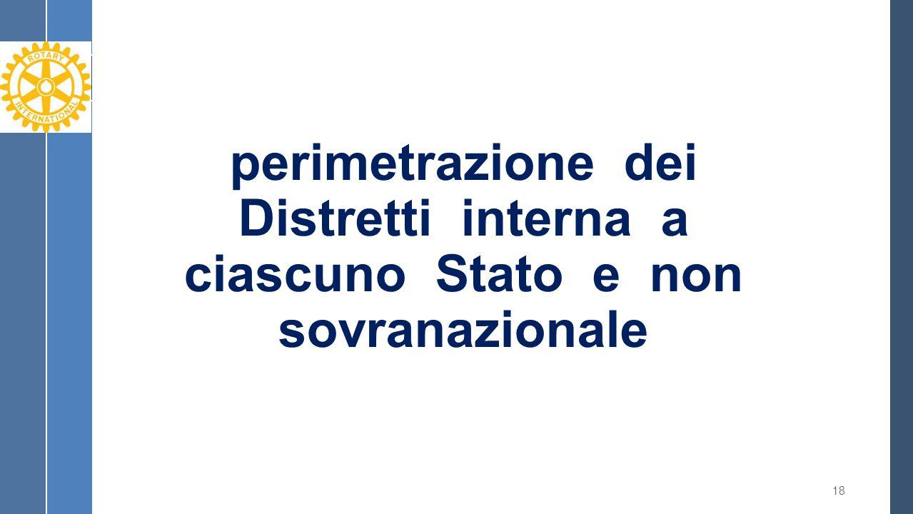 perimetrazione dei Distretti interna a ciascuno Stato e non sovranazionale 18