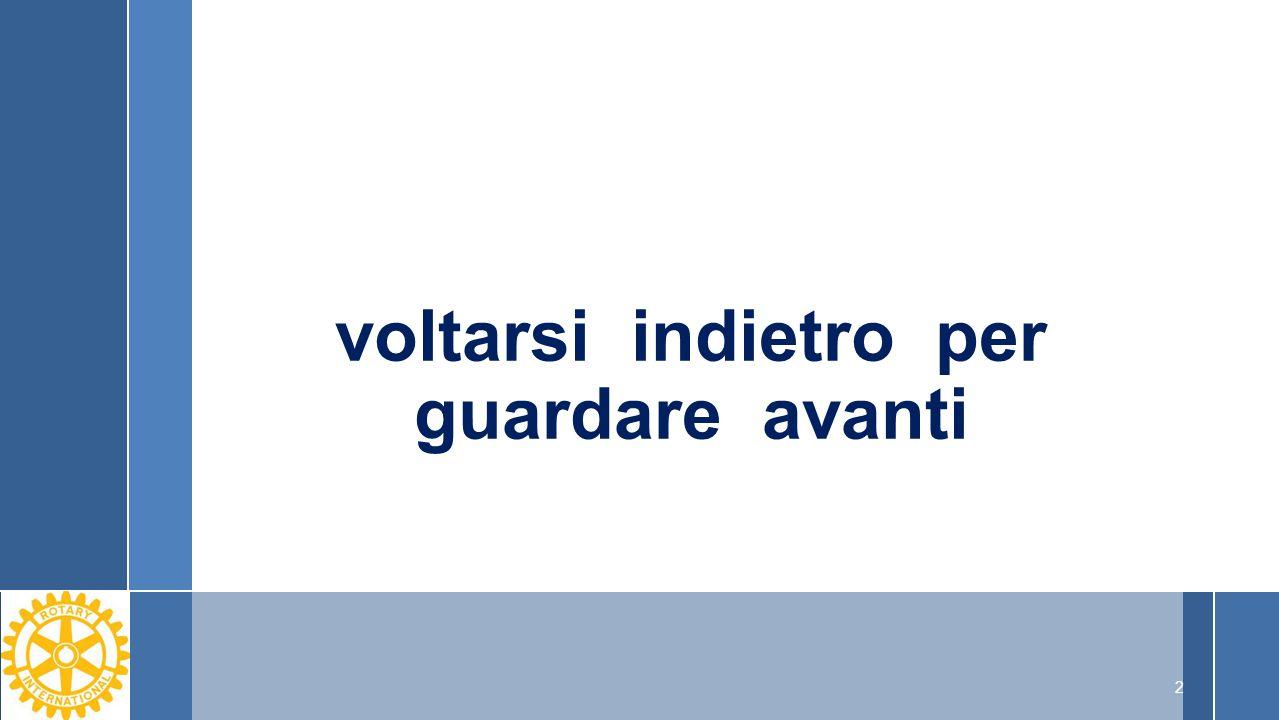 «molti pensano che il Rotary sia una associazione elitaria la cui massima aspirazione sia organizzare cene elitarie.