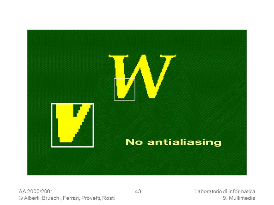 AA 2000/2001 © Alberti, Bruschi, Ferrari, Provetti, Rosti Laboratorio di Informatica 9. Multimedia 43