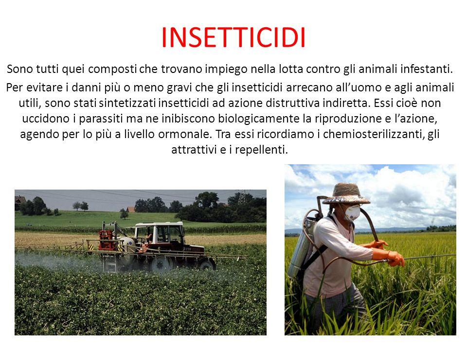INSETTICIDI Sono tutti quei composti che trovano impiego nella lotta contro gli animali infestanti.