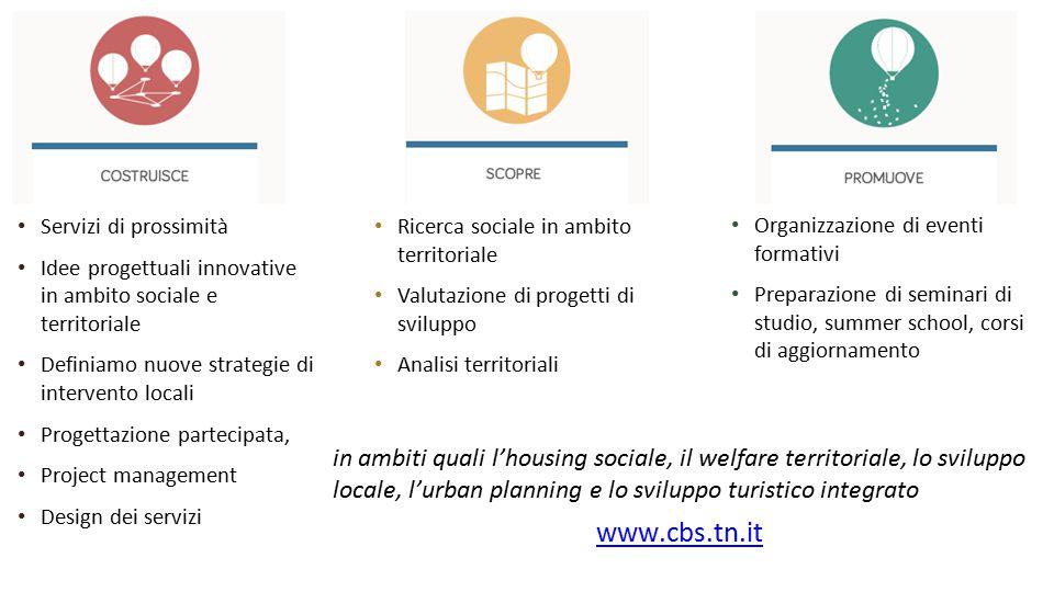 Servizi di prossimità Idee progettuali innovative in ambito sociale e territoriale Definiamo nuove strategie di intervento locali Progettazione partec