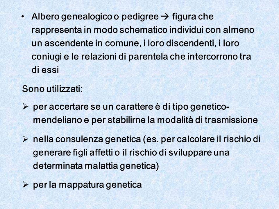 Se si utilizzano i pedigree per stabilire le modalità di trasmissione di un carattere genetico è importante considerare la frequenza con cui il carattere in esame si presenta nella popolazione se un CARATTERE è RARO possiamo assumere che sia entrato nel pedigree una sola volta tra tutte le modalità di trasmissione compatibili con il/i pedigree in esame, consideriamo come più verosimile quella che ipotizza il minor numero di portatori indipendenti (cioè non imparentati) viceversa per CARATTERI COMUNI tale assunzione non può essere fatta